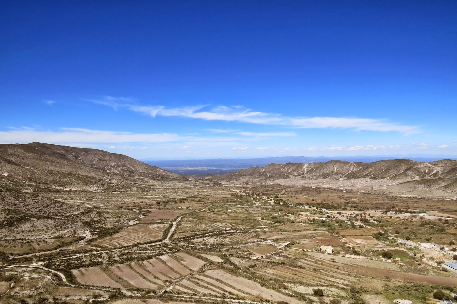 The view north from the east side of the Real de Catorce tunnel