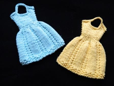 Knitting Dress Style Dishcloths E Book Stitches By Debbie