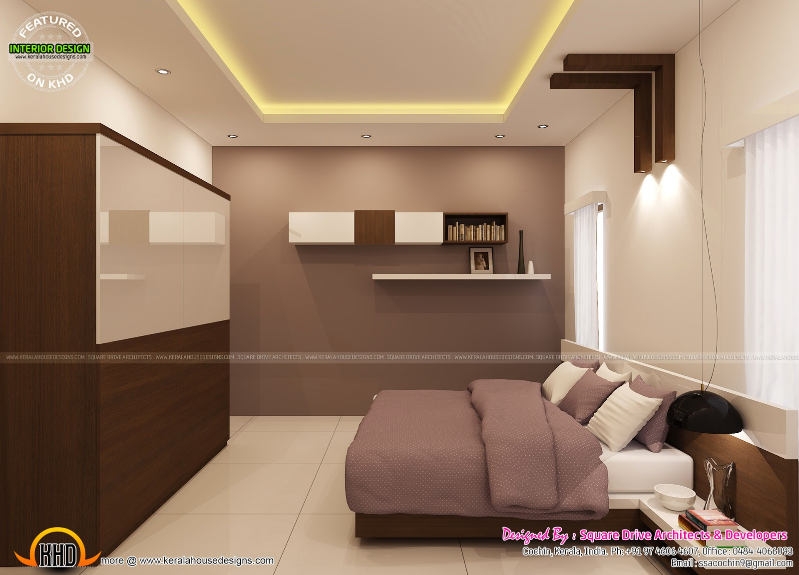Bedroom interior decoration kerala home design and floor for 100 sq ft bedroom layout