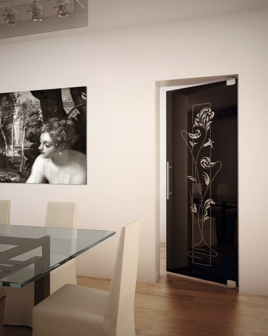 Cool stained glass interior doors for modern interior - Cool interior doors for home ...