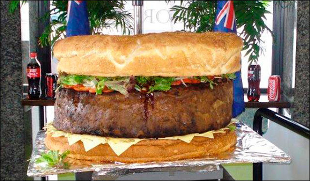 world's largest burger, Australia, world record