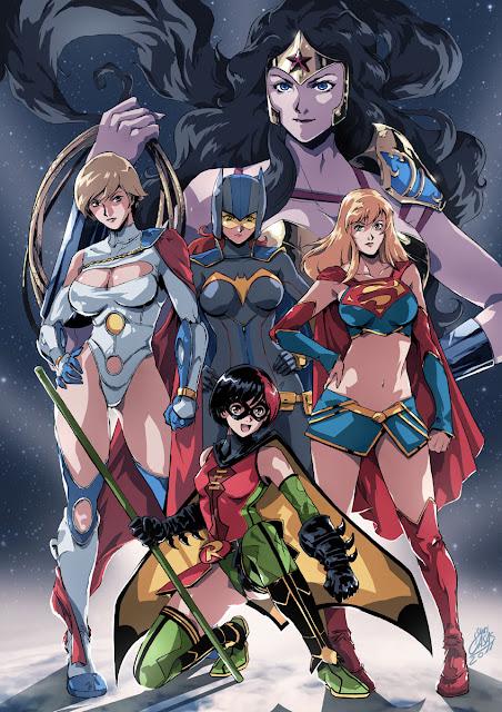 Bohaterki DC Comics w stylu anime