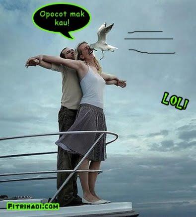 romantik romantic titanic aksi pasangan kekasih atas kapal