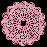 ドイリーのイラスト「ピンク」