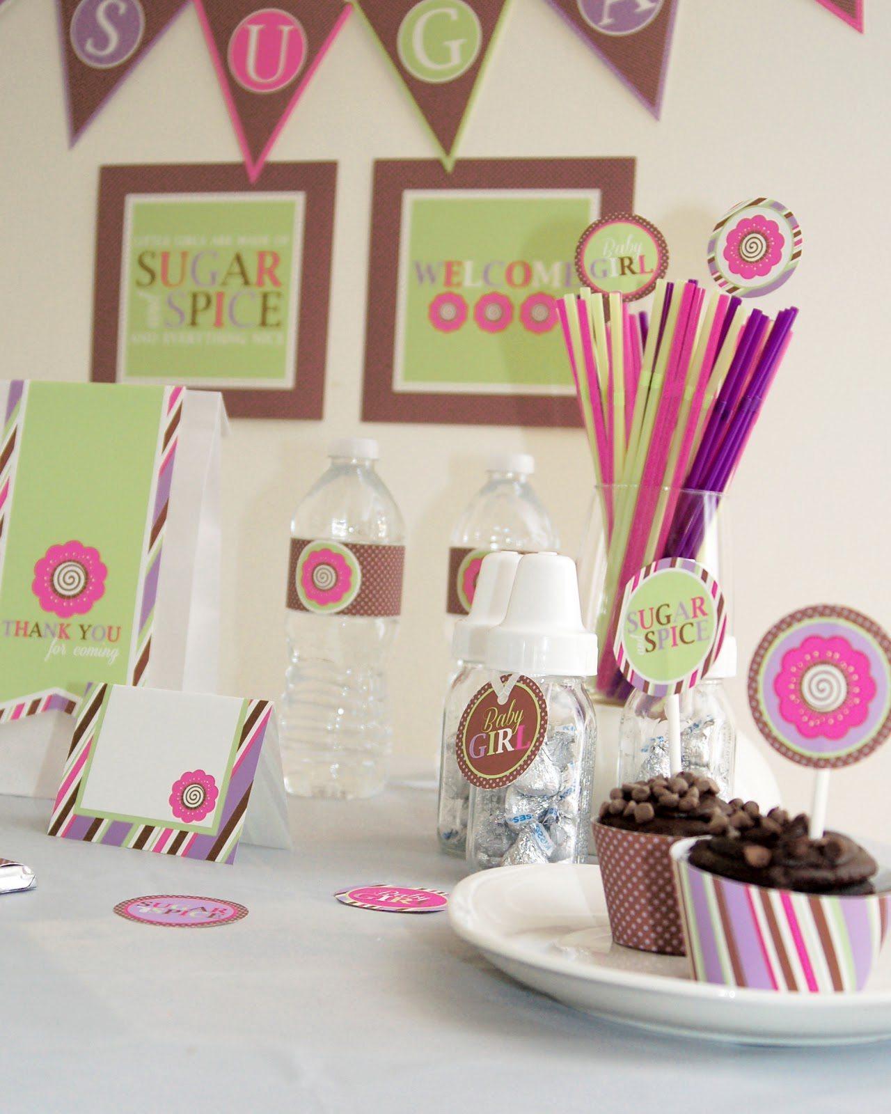 prickly press baby girl shower party package printable diy sugar