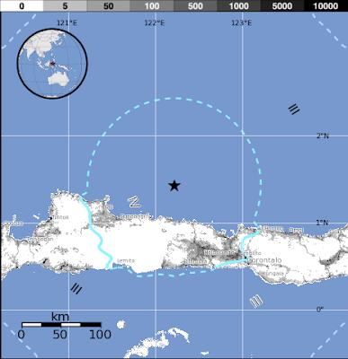 Epicentro sismo Indonesia, 09 de Septiembre 2013