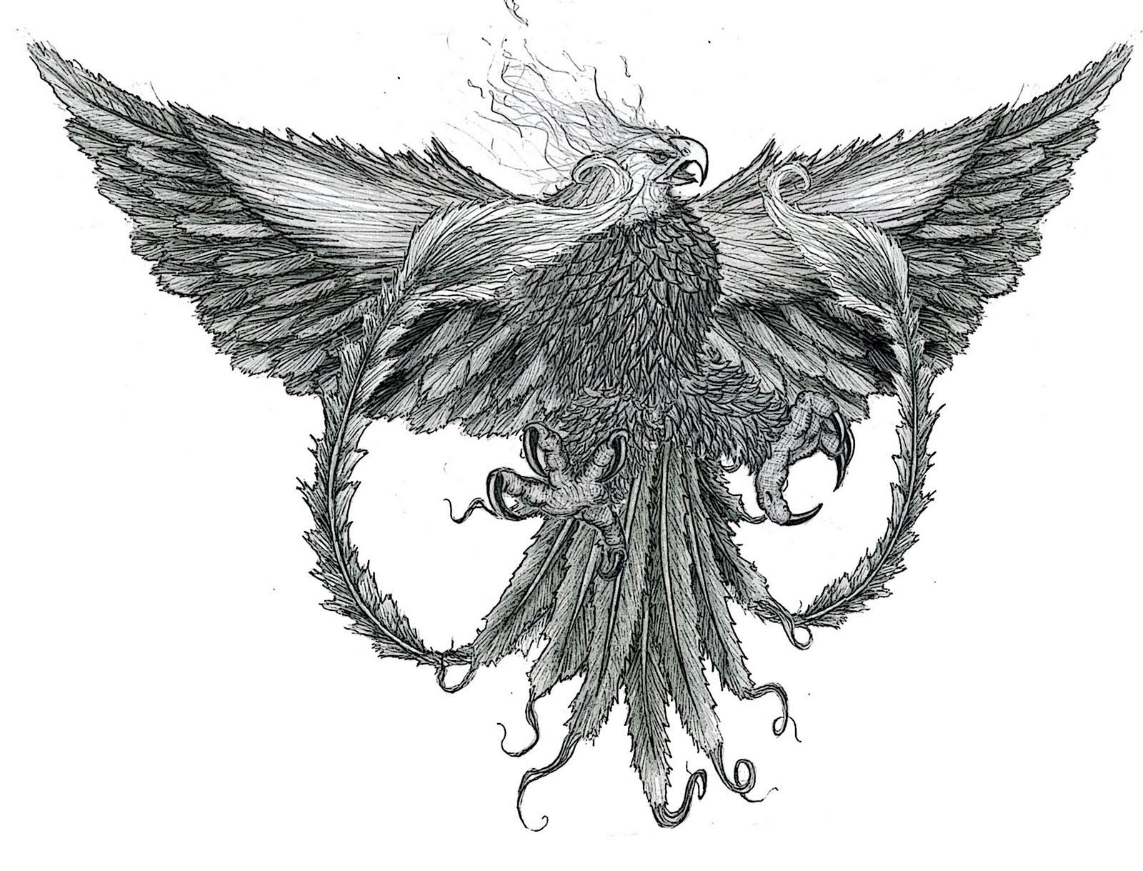 Phoenix tattoo for men - Phoenix Tattoos For Men