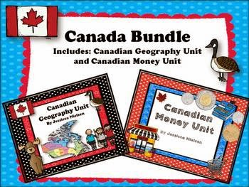 http://www.teacherspayteachers.com/Product/Canada-Bundle-Canadian-Geography-and-Canadian-Money-Unit-1122036
