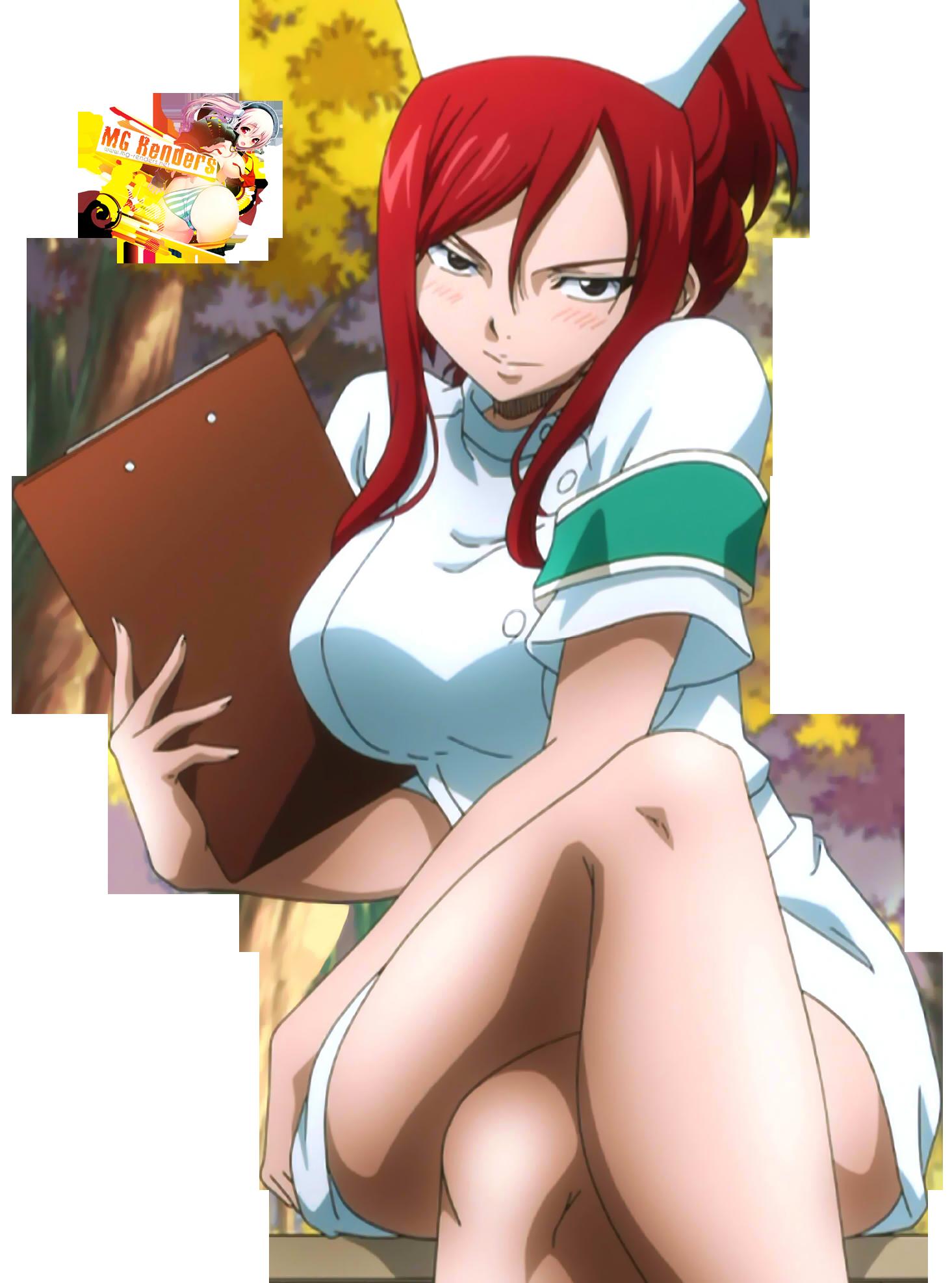 Ezra Hentai regarding fairy tail - erza scarlet render 14