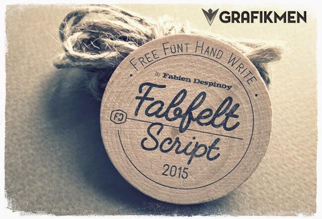 Ücretsiz Fabfelt Script El Yazısı Fontu