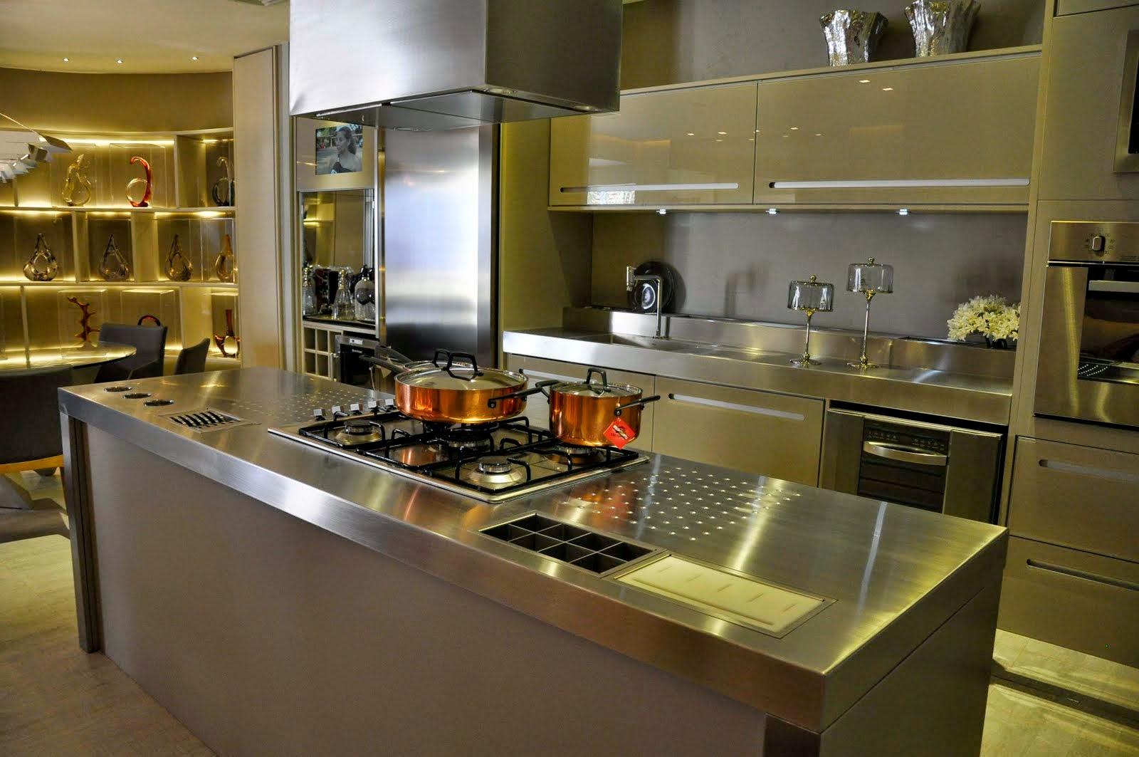 30 Bancadas de cozinhas gourmet inspire se em modelos lindos e  #967B35 1600x1063
