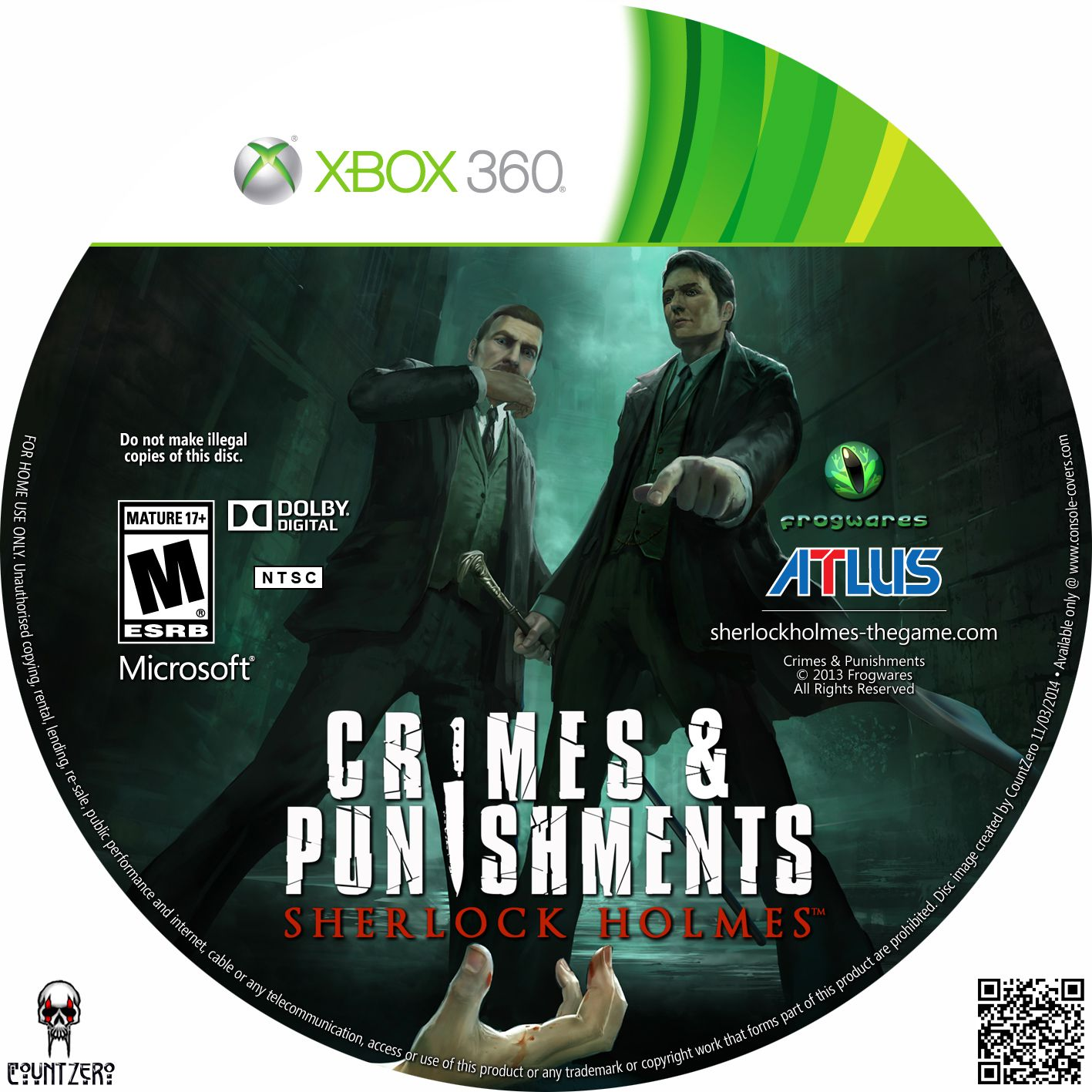 Label Crimes & Punishiments Sherlock Holmes Xbox 360