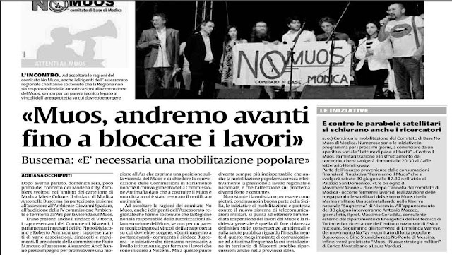 noMUOS Modica, La Sicilia 22/06/2012 by laSicilia_22-06-12