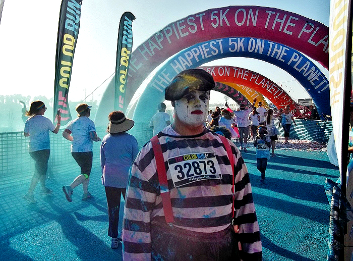 The Color Run Ventura, CA 2014 Blue Mime