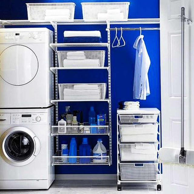 Laundry-Room-cabinets with-blue-walls