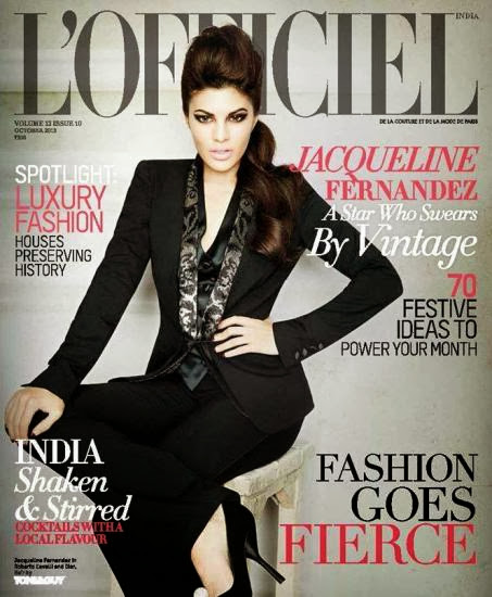 Jacqueline Fernandez-A star Who Swears By Vintage on L'Officiel cover page