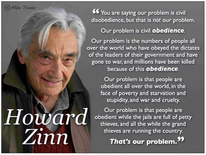 read my mind: Howard Zinn - Social Historian and Author!