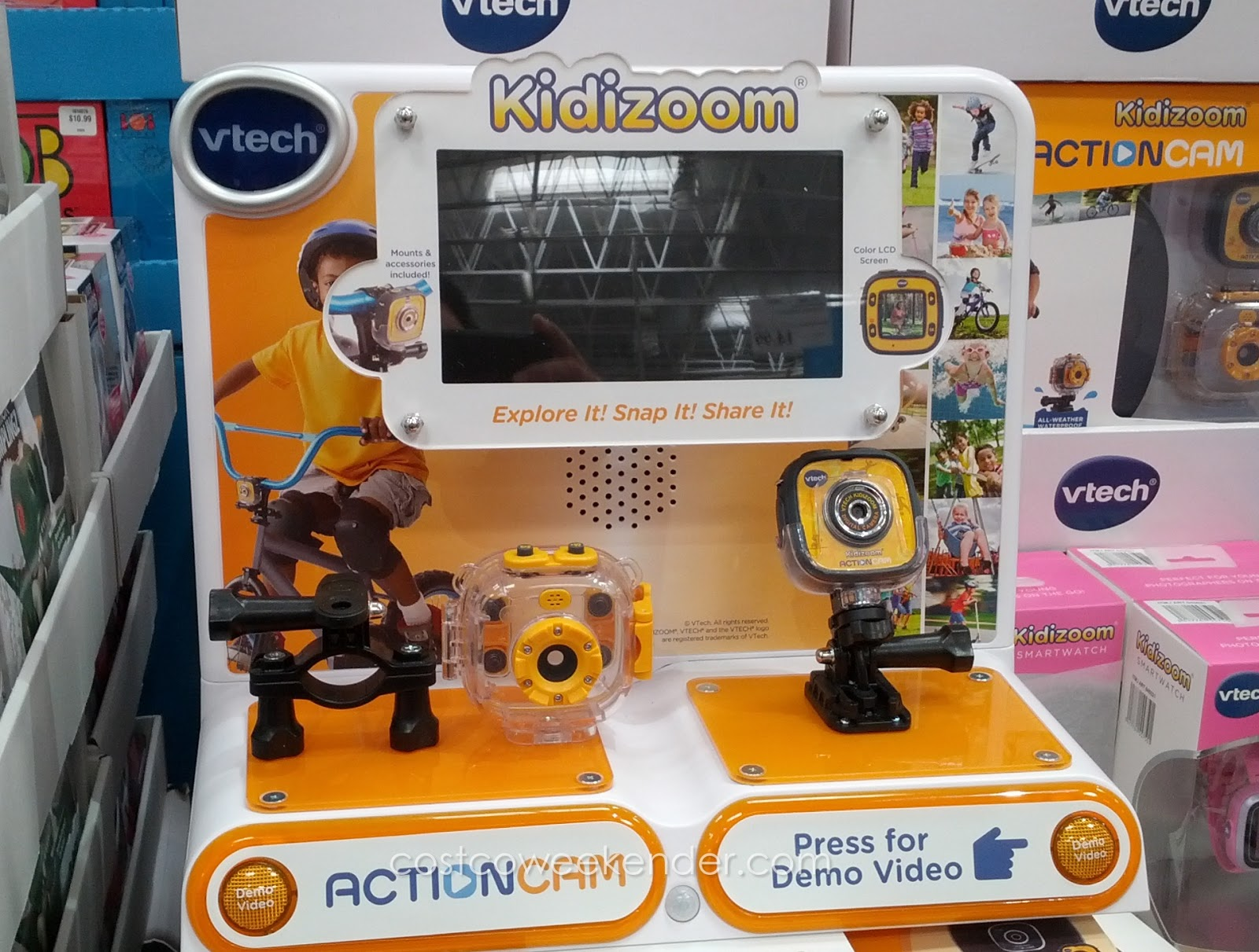 Record your child's active lifestyle with the VTech Kidizoom Action Cam