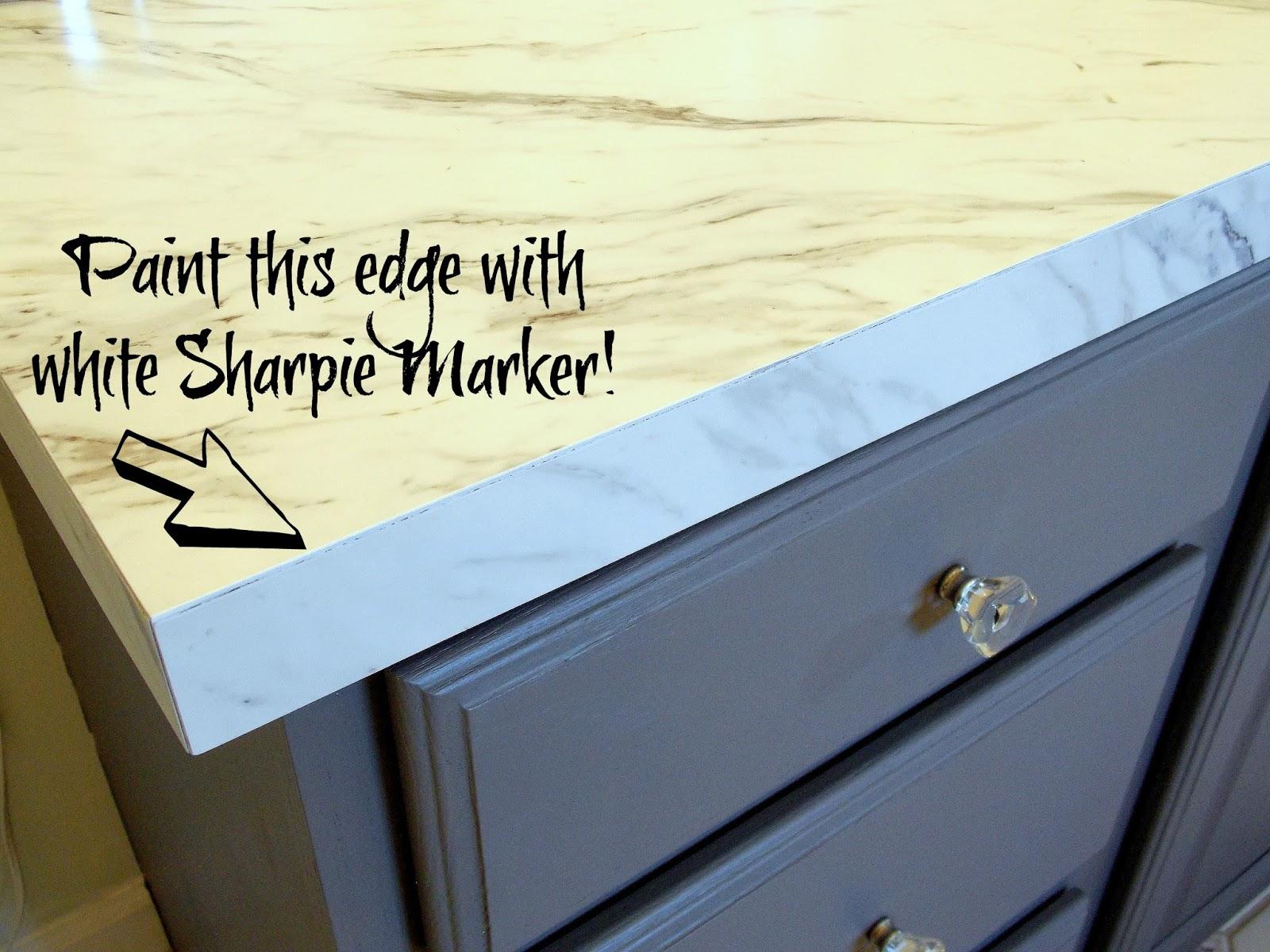 Sharpie painted edge