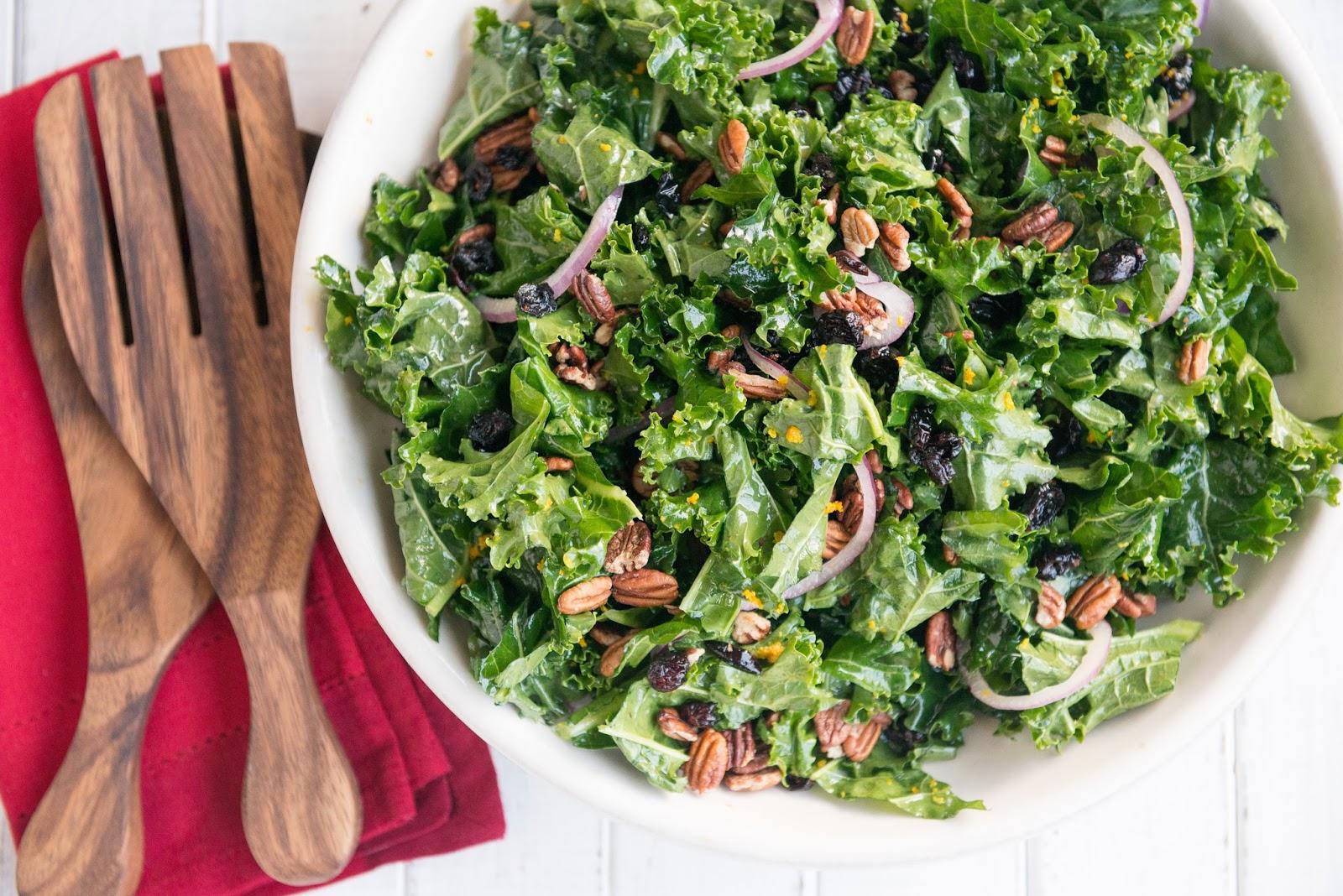 Nourishing Meals: Christmas Kale Salad