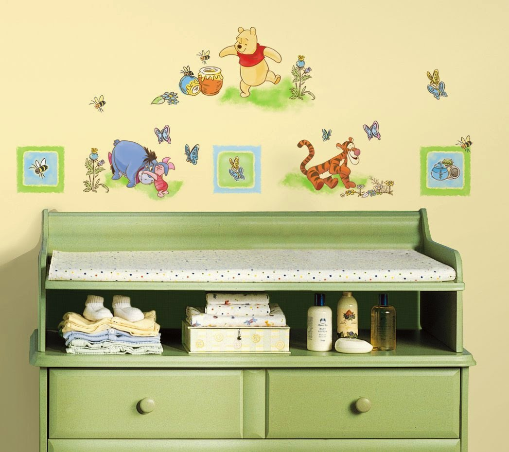 cheap winnie the pooh decorations roommates winnie the pooh toddler peel stick wall decals