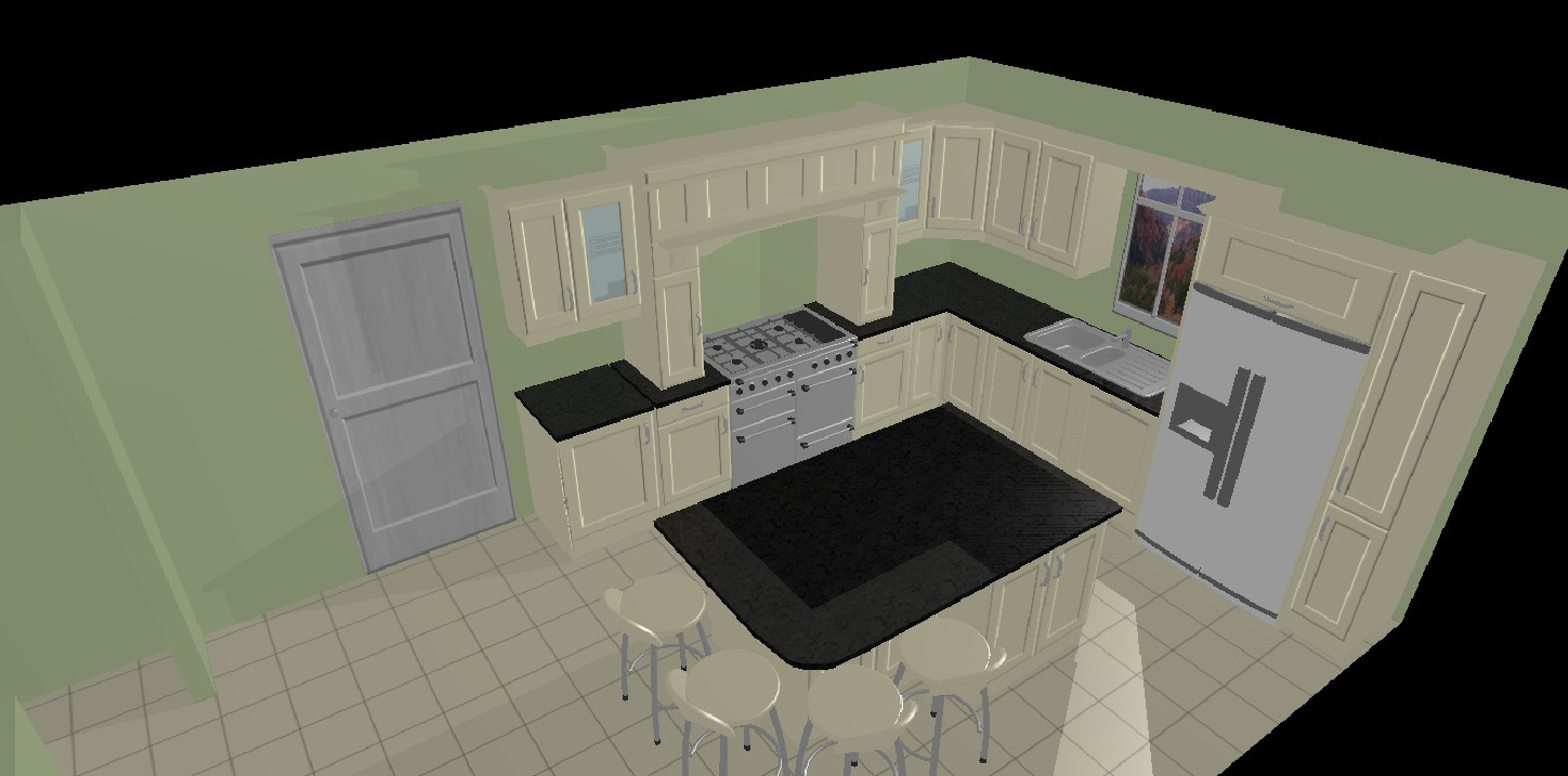 Here Are 2 Options For The Detached Kingswood House. The First Is An L  Shaped Kitchen With Island And The Second And Third Are For A U Shaped  Kitchen.
