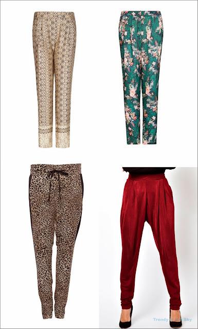 Distintos tipos de Pantalones fiesta