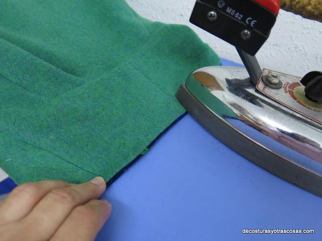 marcar los bordes con la plancha