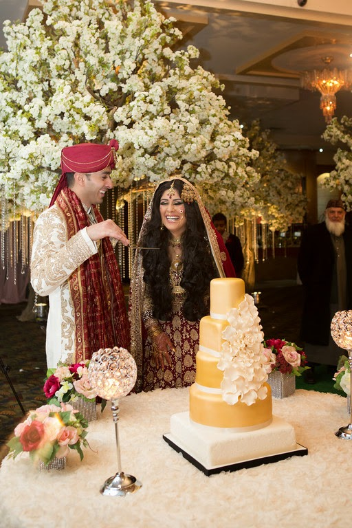 south asian wedding, wedding cake