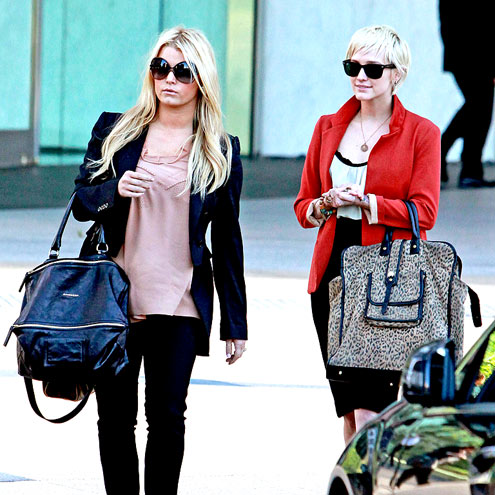 SISTER, SISTER…..Jessica And Ashlee Simpson At A Business Meeting