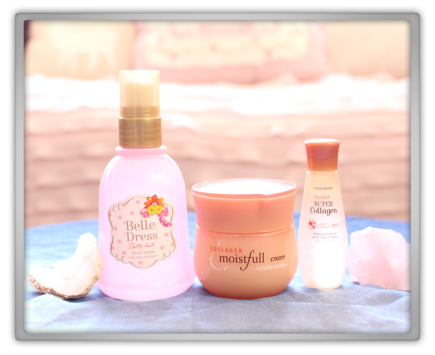 겟잇뷰티박스 by 미미박스 memebox beautybox Superbox #72 Etude House unboxing review box moistfull collagen cream essence belle dress shower cologne