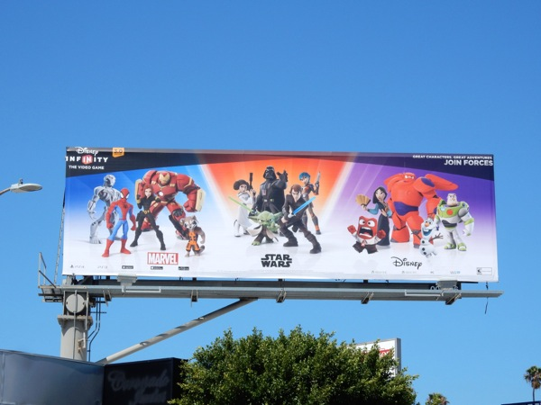 Disney Infinity 3 video game billboard