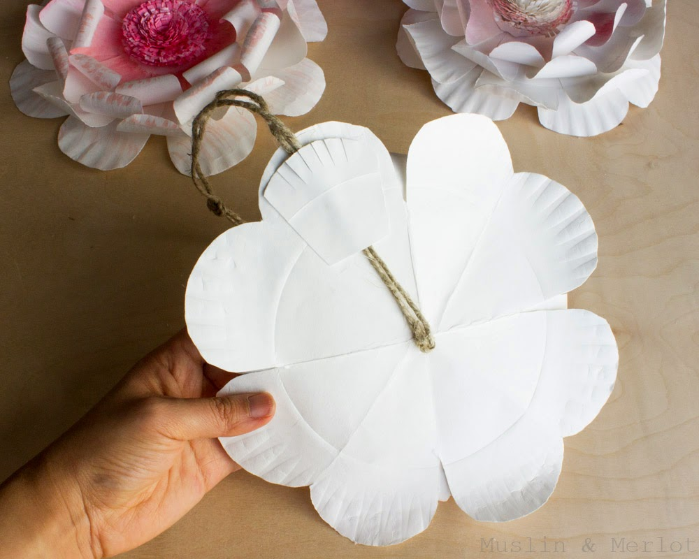 Paper Plate Flowers Step By Instructions