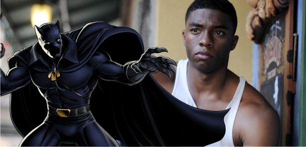 Chadwick Boseman é o Pantera Negra no filme da Marvel Studios que estreia em 2017