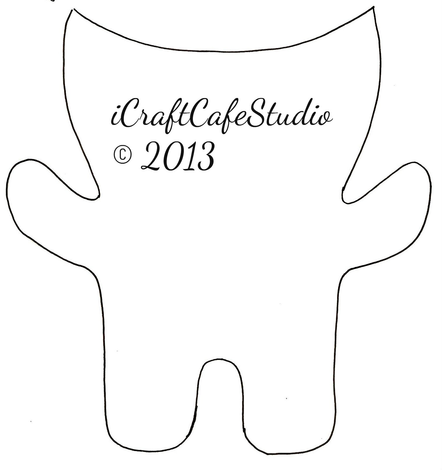 Icraftcaf studio felt monsters for Template monstre