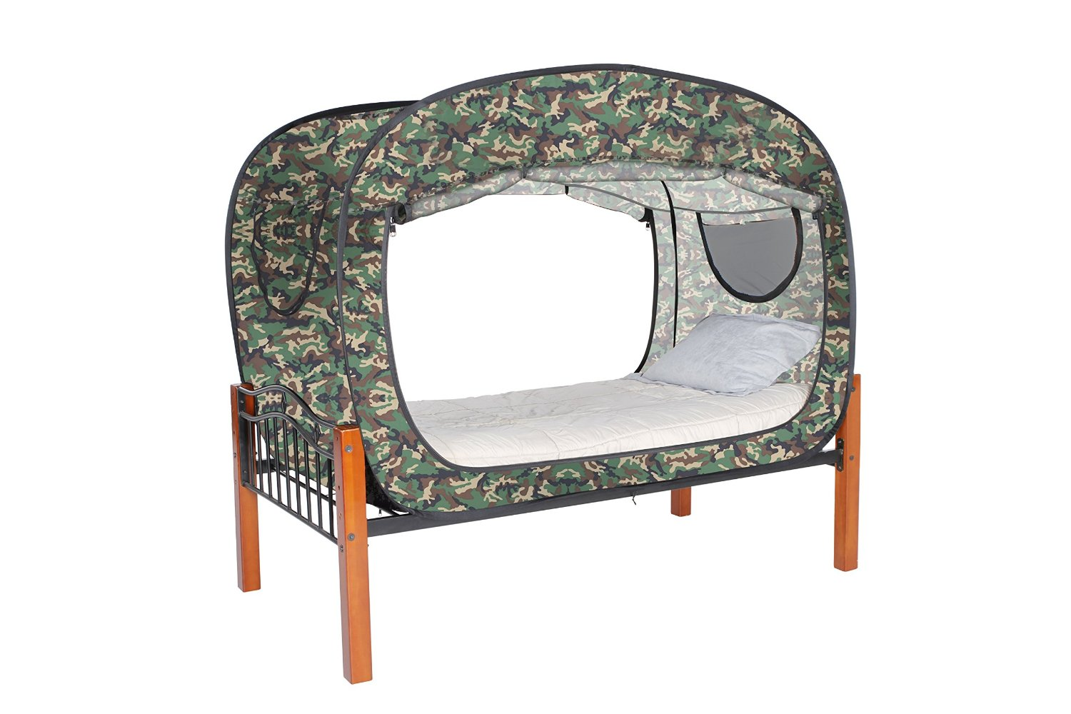 college dorm bed tent coupons privacy pop up bed tent cover for dorms or soldiers. Black Bedroom Furniture Sets. Home Design Ideas