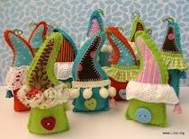 Новогодние домики на ёлку от Лизы Арье
