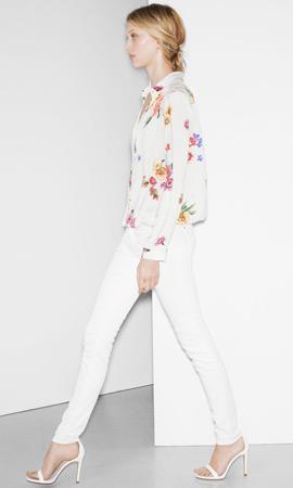 Zara trf verano 2013 camisa floral pantalón blanco