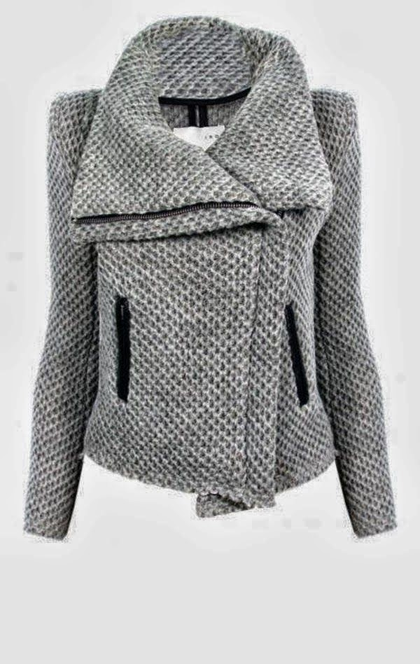 Warm and stylish grey jacket for fall