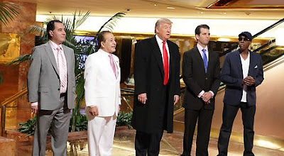 Farouk Systems Executives, Donald Trump, Donald Trump Jr., Arsenio Hall on All-Star Celebrity Apprentice