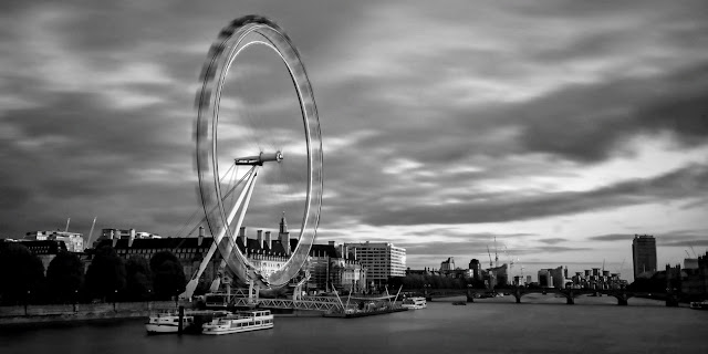London city black and white photography
