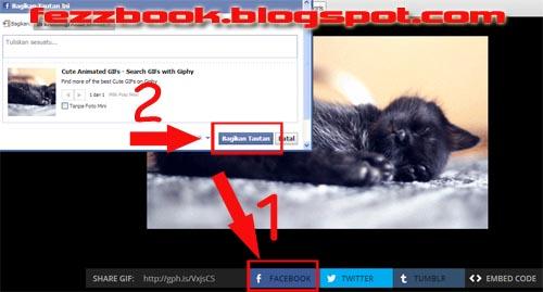 Cara Share Gambar Animasi /GIF Lucu Ke Facebook