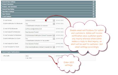 FAQ Configurations