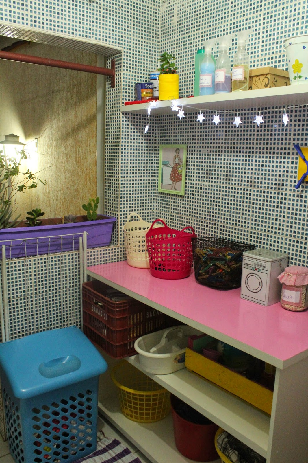 lavanderia fofa, Lavanderia, Organizando a lavanderia, como organizar a lavanderia, organizando roupas sujas, como otimizar a lavanderia, como lavar roupas sujas