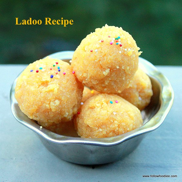 Easy step wise pictorial method to make ladoos .
