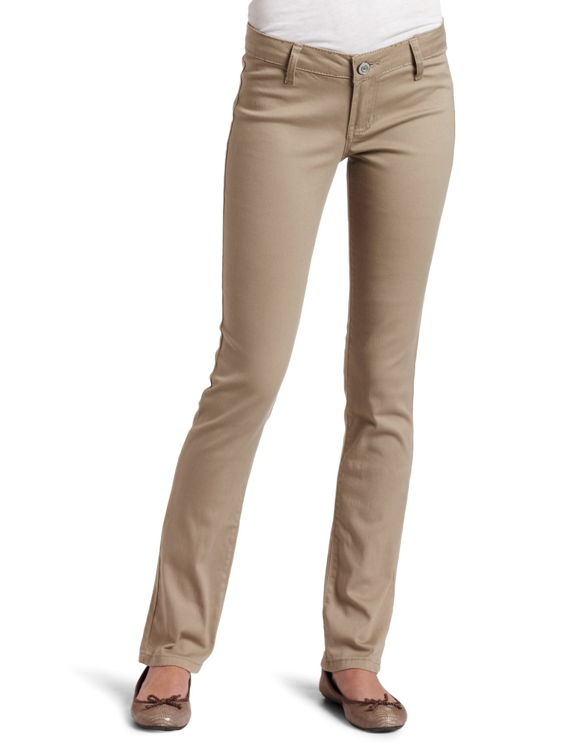 Cheap Khaki Skinny Jeans For Juniors - Jeans Am
