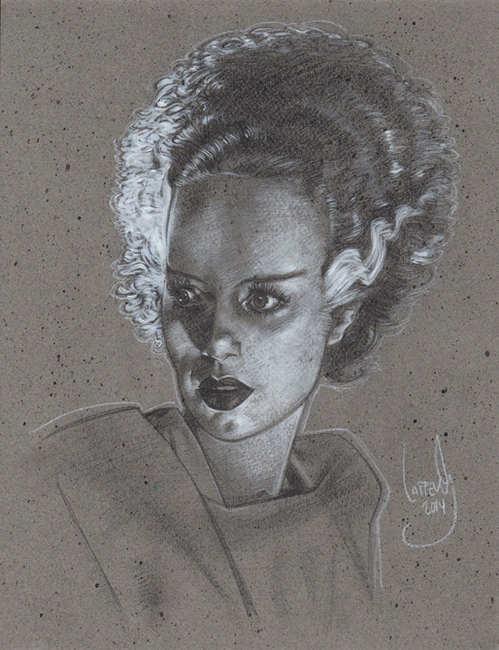 Bride Of Frankenstein, Artwork © Jeff Lafferty 2014