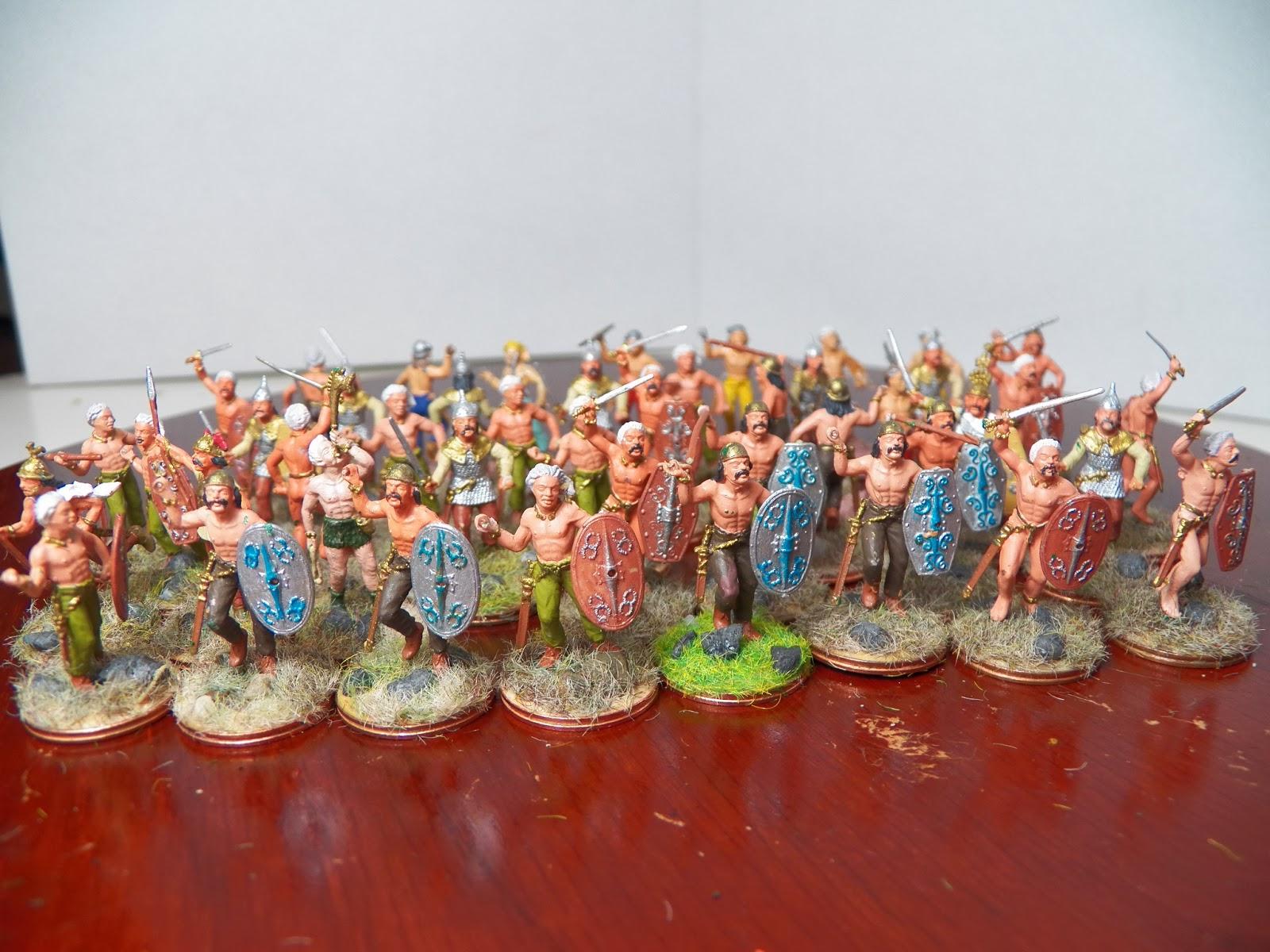 Zvezda,1//72 Gaul Warriors figurine gauloises Italery Set 6022