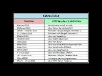 Kalender Pendidikan semester 1 dan 2  2015/2016 dan Aplikasi pembuatannya