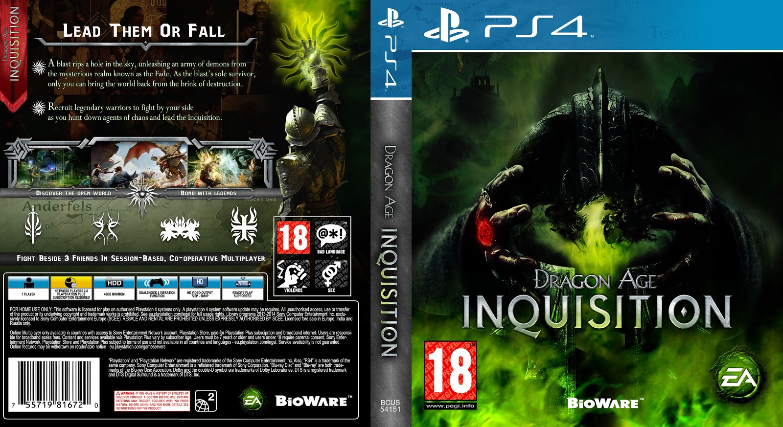 Capa Dragon Age Inquisition PS4
